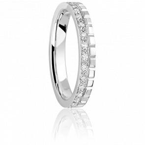 Alliance Together Nikki Forever, Diamants & Or Blanc 18K