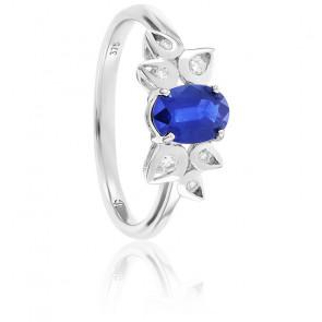 Bague Floraison Saphir & Diamants