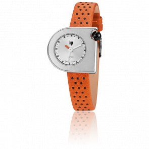 Mach 2000 Mini Marquise Chrome Orange Leather 671114