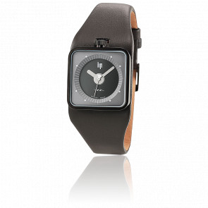 TV Black Grey Dial Black Strap 671124