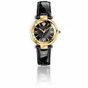 Montre Reve 3H  Bracelet Cuir Noir Cadran Noir VI06 0016