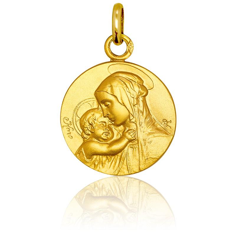 Médaille Vierge Maternité Or Jaune 18K