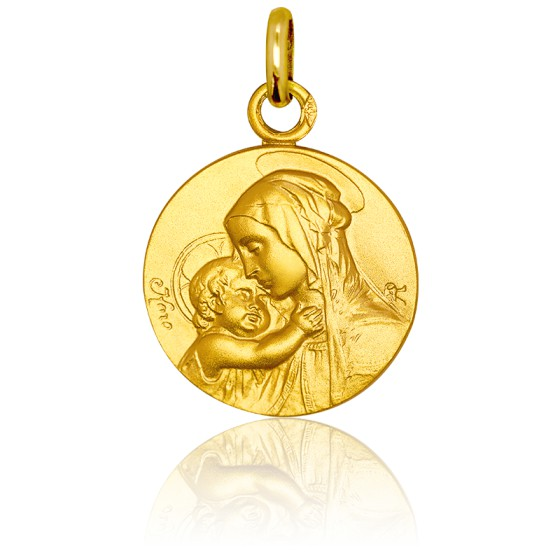 Médaille Vierge Maternité Or Jaune 9K