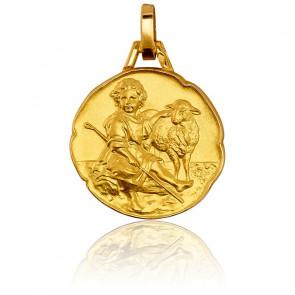 Médaille Divin Berger Or Jaune 9K