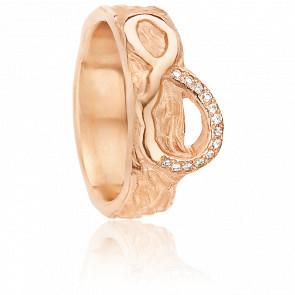 Alliance Amour Infini 6 mm Or Rose et Diamants