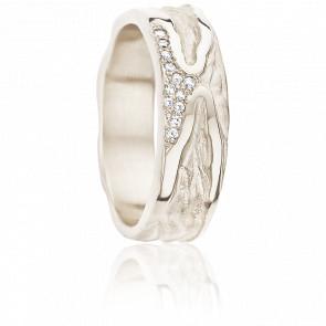 Alliance Narcisse Diamants & Or Blanc 18K