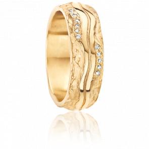Alliance Nausicaa 6,80 mm Or Jaune et Diamants
