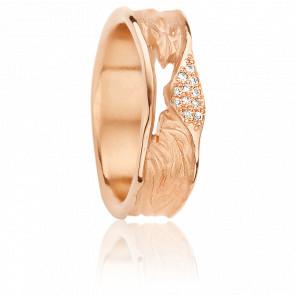 Alliance Apollonia 6,20 mm Or Rose et Diamants