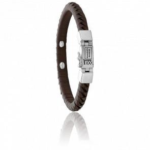 Bracelet Komang Small Leather Brown
