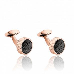 Boutons de Manchette Spyk Black Croco IPR