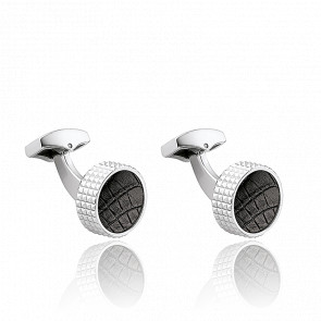 Boutons de Manchette Spyk Black Croco