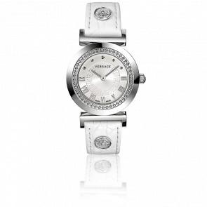 Montre Vanity 35 mm Bracelet Cuir Blanc Cadran Blanc P5Q99D001 S001