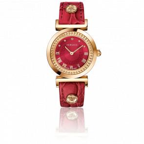 Montre Vanity 35 mm Bracelet Cuir Rouge Cadran Rouge P5Q80D800 S800