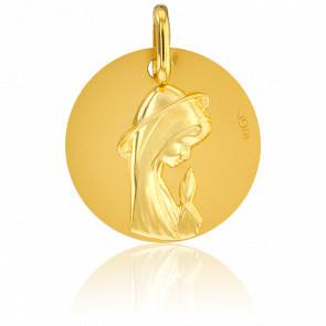 Médaille Vierge en prière Or Jaune 18K