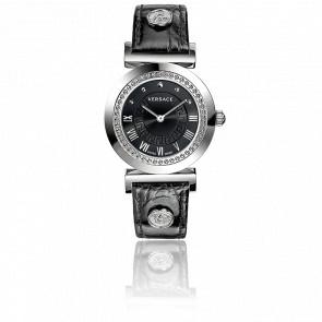 Montre Vanity 35 mm Bracelet Cuir Noir Cadran Noir P5Q99D009 S009
