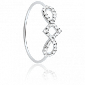 Bague Harmonie Or Blanc 9K