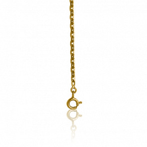 Chaîne Forçat Diamantée, Or Jaune 9K, longueur 40 cm