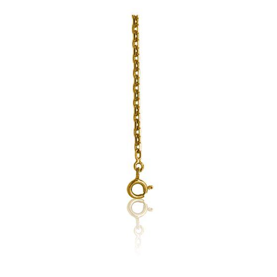 Chaîne Forçat Diamantée, Or Jaune 18K, longueur 72 cm