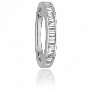 Alliance Donna or blanc 18K & diamants baguettes G/SI2 0,60ct