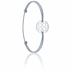 Bracelet cordon Charme Or Blanc