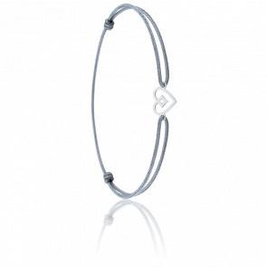 Bracelet cordon Béguin Or Blanc