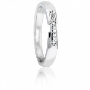 Alliance Asellus Or Blanc 9K & Diamants GSI2