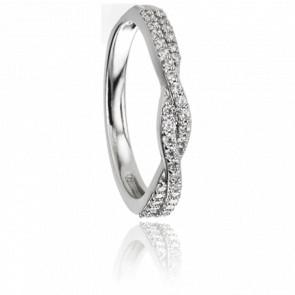 Alliance Yolenda Or Blanc 18K & Diamants GSI2 0,24ct