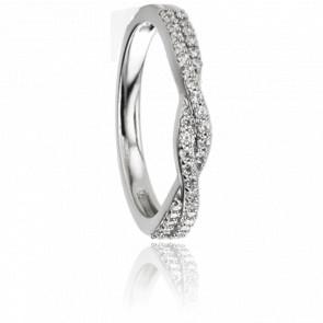 Alliance Yolenda Or Blanc 9K & Diamants GSI2 0,29ct