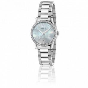 G-Timeless Restyle Cadran Diamanté 27 mm Acier YA126543