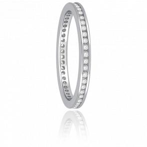 Alliance Cinna Diamants G/SI2 & Or Blanc 18K