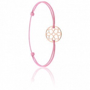 Bracelet cordon Charme Or Rose