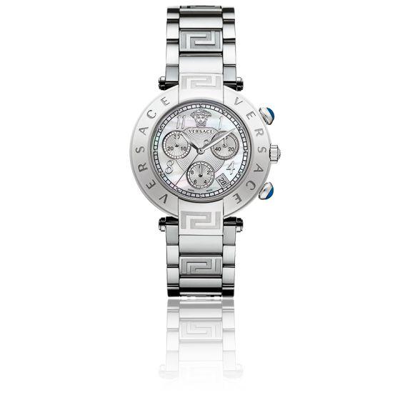 En stock Montre Reve Chrono 40mm Bracelet Acier Cadran Acier Q5C99D498 S099 c5ab19c84c4