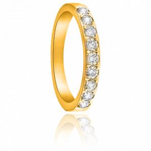 Alliance Cordélia Or Jaune 18K et Diamants G/SI2 0,25ct
