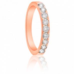 Alliance Cordélia Or Rose 18K et Diamants G/SI2 0,30ct