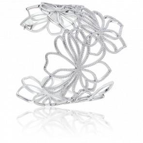 Bracelet Manchette Exaltée Argent & Zircons