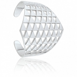 Bracelet Manchette Arrow Argent & Zircons