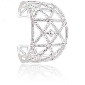 Bracelet Manchette Enviée Argent & Zircons