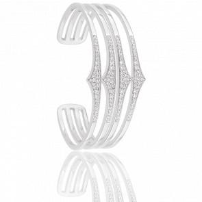 Bracelet Rebel Quadruple Argent & Zircons