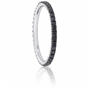 Alliance Eternity Merveilleuse Diamants Noirs & Or Blanc 18K