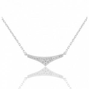 Collier Rebel Triangle Argent & Zircons