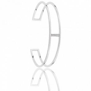 Bracelet Minimale Argent & Zircons