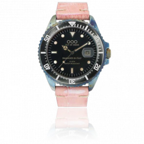 Croco Pink Leather 40 mm