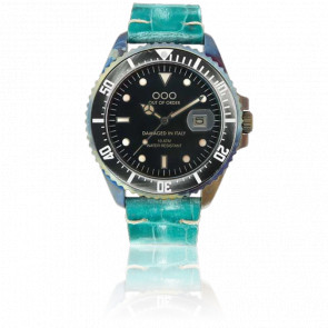 Croco Mint Leather 40 mm