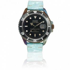 Croco Sky Blue Leather 40 mm