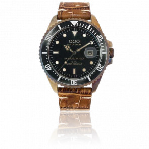 Croco Brown Leather 40 mm