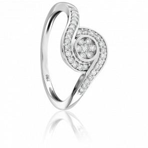 Bague Lushai Or Blanc et Diamants 9K