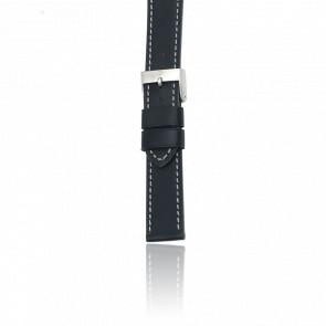 Bracelet Cuir Noir pour modèle Ambassador Auto/ Chrono Classic