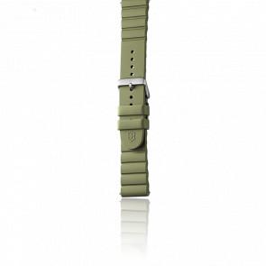 Bracelet Caoutchouc Vert pour modèle INOX.