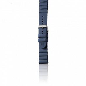 Bracelet Caoutchouc Bleu pour modèle INOX.