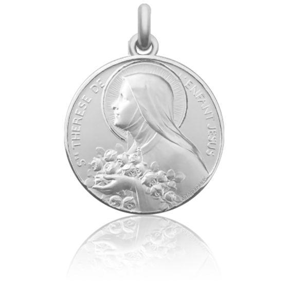 Médaille de Berceau Sainte Thérèse de l'Enfant Jésus Argent